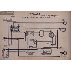 Haynes 34 35 R 6volt Schema Electrique 1916 Leece Neville