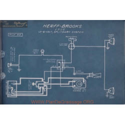 Herff Brooks 6volt 12volt Schema Electrique 1916 Splitdorf