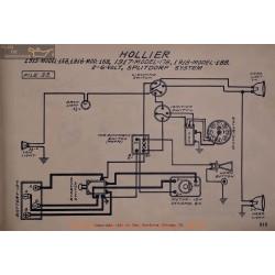 Hollier 158 168 178 188 6volt Schema Electrique 1915 1916 1917 1918 Splitdorf