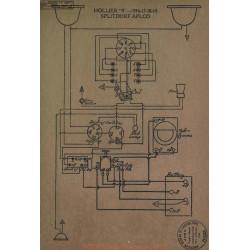 Hollier 8 Schema Electrique 1916 1917 1918 1919 Splitdorf Aplco
