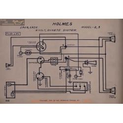 Holmes 2 3 6volt Schema Electrique 1919 1920 Dyneto