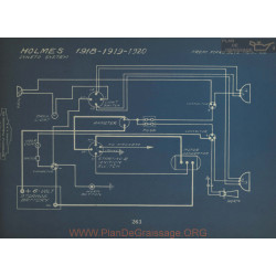 Holmes Schema Electrique 1918 1919 1920 Dyneto