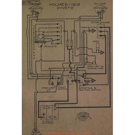 Holmes Schema Electrique 1919 Dyneto