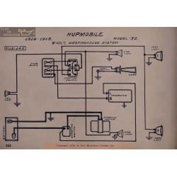 Hupmobile 32 6volt Schema Electrique 1914 1915 Westinghouse V2