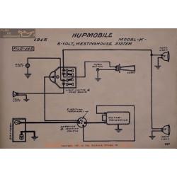 Hupmobile K 6volt Schema Electrique 1915 Westinghouse V2