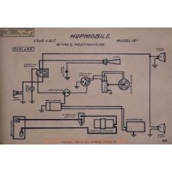 Hupmobile N 6volt Schema Electrique 1916 1917 Westinghouse V2