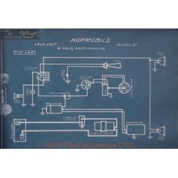 Hupmobile N 6volt Schema Electrique 1916 1917 Westinghouse