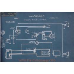 Hupmobile N 6volt Schema Electrique 1916 Bijur
