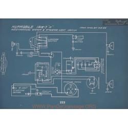Hupmobile N Schema Electrique 1916 1917 V2