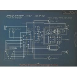 Inter State 50 51 52 Schema Electrique 1912 Apelco