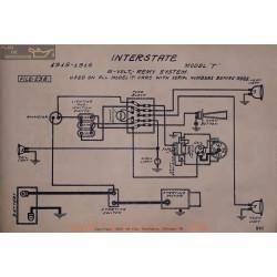 Inter state T 6volt Schema Electrique 1915 1916 Remy V2