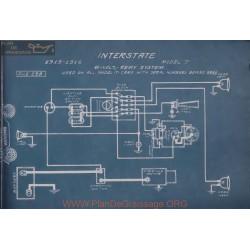 Inter state T 6volt Schema Electrique 1915 1916 Remy