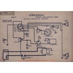 Jackson 349 6volt Schema Electrique 1917 Autolite