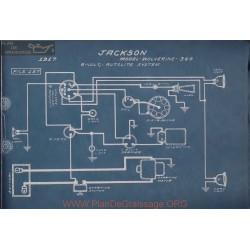 Jackson 349 Wolverine 6volt Schema Electrique 1917 Autolite
