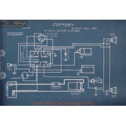 Jeffery 462 661 6volt Schema Electrique 1916 Bijur
