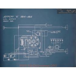 Jeffery 6 Schema Electrique 1914 1915