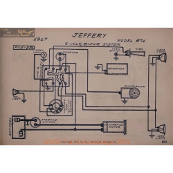 Jeffery 671 6volt Schema Electrique 1917 Bijur V2