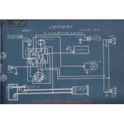 Jeffery 671 6volt Schema Electrique 1917 Bijur