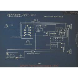 Jeffery 671 Schema Electrique 1917 Bijur