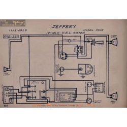 Jeffery Four 12volt Schema Electrique 1914 1915 Usl