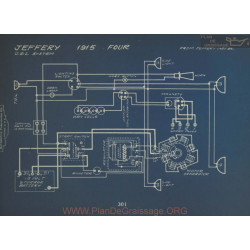 Jeffery Four Schema Electrique 1915 Usl
