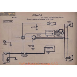 Jones 28b 28e 28g Schema Electrique 1920 Westinghouse
