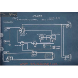 Jones B26 6volt Schema Electrique 1917 Automobile Remy