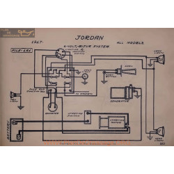 Jordan All Models 6volt Schema Electrique 1917 Bijur