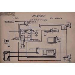 Jordan All Models 6volt Schema Electrique 1917 Bijur