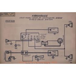 Kankakee Continental 6volt Schema Electrique 1919 Delco