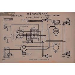 Kenworthy 6 55 6volt Schema Electrique 1920 1921 Bijur