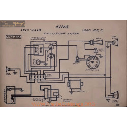 King Ee F 6volt Schema Electrique 1917 1918 Bijur