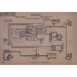 Kissel 100 Point Six 6volt Schema Electrique 1916 1917 Remy