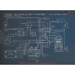 Kissel 4 40 6 48 6 60 Schema Electrique 1913 1914 Schema Electrique Esterline