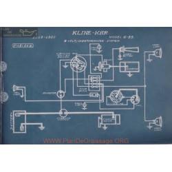 Kline Kar 6 55 6volt Schema Electrique 1919 1920 Westinghouse