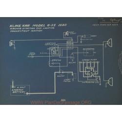 Kline Kar 6 55 Schema Electrique 1920 Wagner