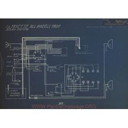 LaFayette All Models Schema Electrique 1920 Delco