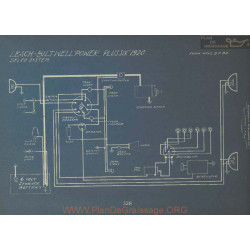 Leach Biltwell Power Plus Six Schema Electrique 1920 Dleco