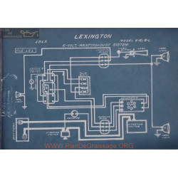 Lexington 4k 6l 6volt Schema Electrique 1915 Westinghouse