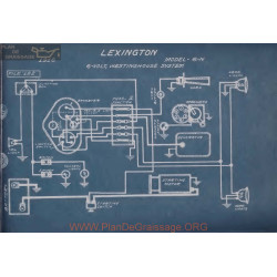 Lexington 6n 6volt Schema Electrique 1916 Westinghouse