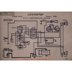 Lexington 6r 6volt Schema Electrique 1918 1919 Westinghouse