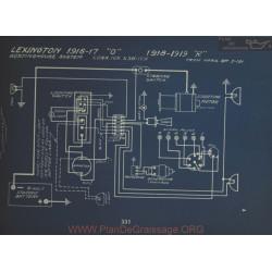 Lexington O R Schema Electrique 1916 1917 1918 1919 Wetinghouse