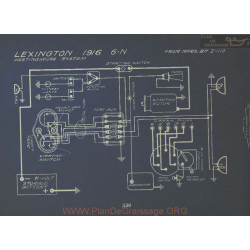 Lextington 6n Schema Electrique 1916 Westinghouse