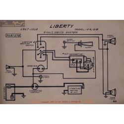 Liberty 10a 10b 6volt Schema Electrique 1917 1918 Delco V2