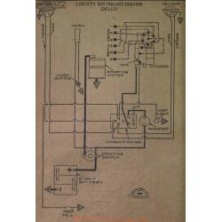Liberty Six Schema Electrique 1916 1917 1918 1919 Delco