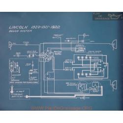 Lincoln Schema Electrique 1920 1921 1922
