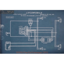 Locomobile 30 38 48 6volt Schema Electrique 1911 1912 1913 Rushmore Lighting