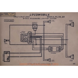 Locomobile 30 38 48 6volt Schema Electrique 1911 1912 1913 Rushmore