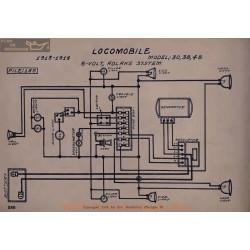 Locomobile 30 38 48 6volt Schema Electrique 1913 1914 Adlake V2