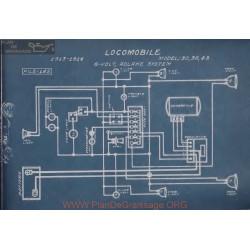 Locomobile 30 38 48 6volt Schema Electrique 1913 1914 Adlake